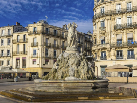 Fontaine des Trois Graces in Montpellier - © Leonid Andronov / 2016 Thinkstock.